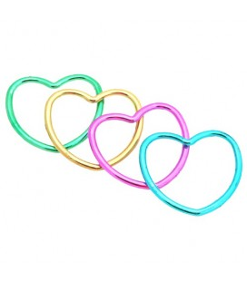 12 Shiny Heart Bracelets