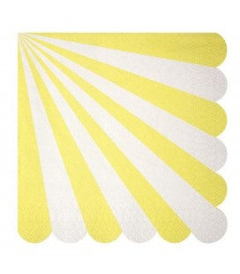20 Yellow Meri Meri Lunch Napkins