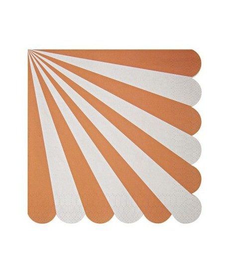 20 Orange Meri Meri Cake Napkins