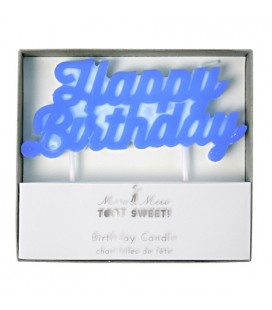 Happy Birthday Blue Candle