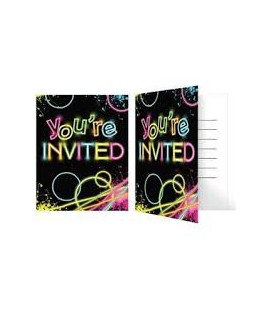 Invitations Glow Party