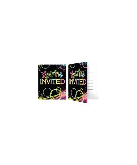 Glow Party Invitations
