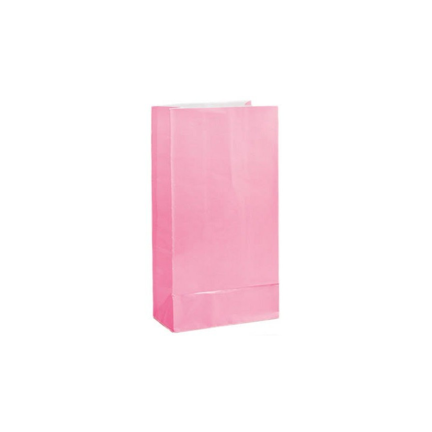 12 pink Paper Party Bags