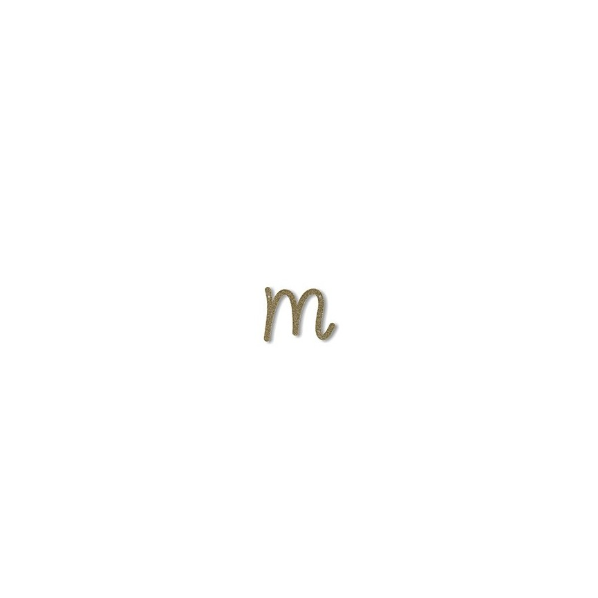 Acrylic Gold Glitter Letter M