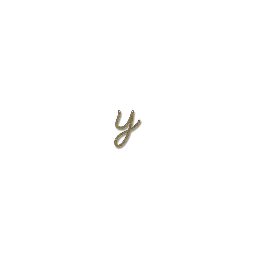 Acrylic Gold Glitter Letter Y