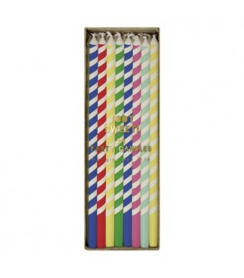 24 Bright Multi Color Candles
