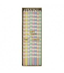 24 Pastels Candles