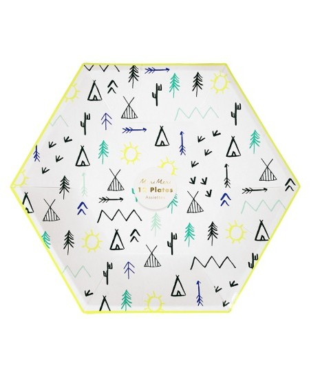 Teepee Party Plates