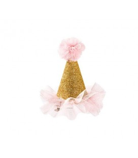 Mini Party Hat Gold Glitter