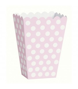 8 Pink Polka Dots Treat Boxes