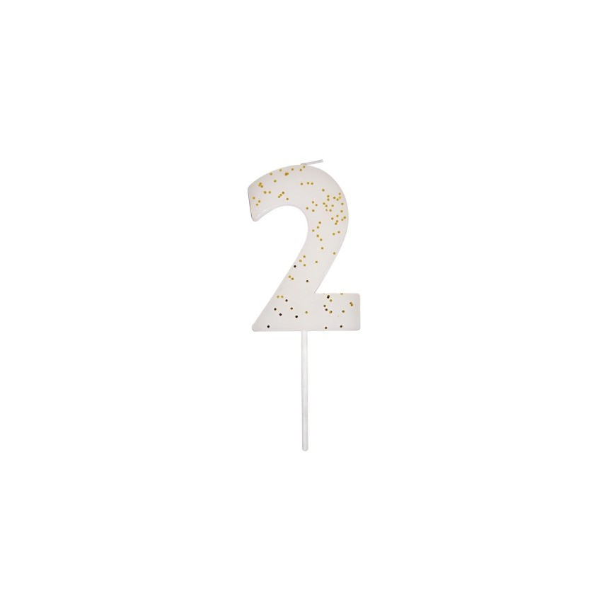 Number 1 White Candle