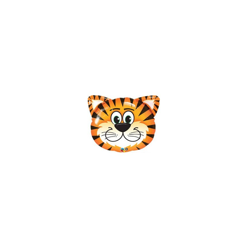 Tiger Head Mylar Balloon