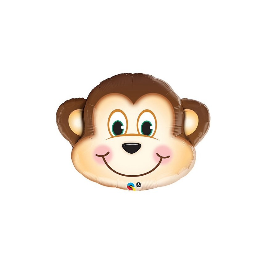 Monkey Head Mylar Balloon