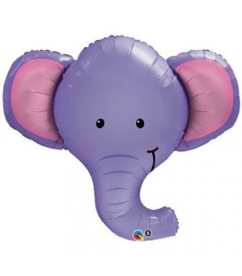 Elephant Head Mylar Balloon