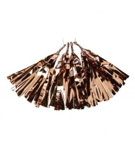 4 Copper Foil Tassels