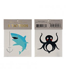 2 Sea Temporary Tattoos