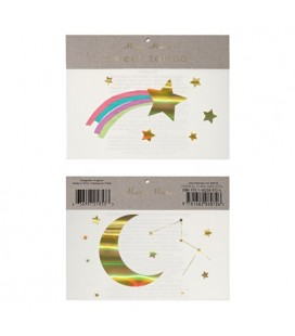 Rainbow & Shooting Sar Temporary Tattoos