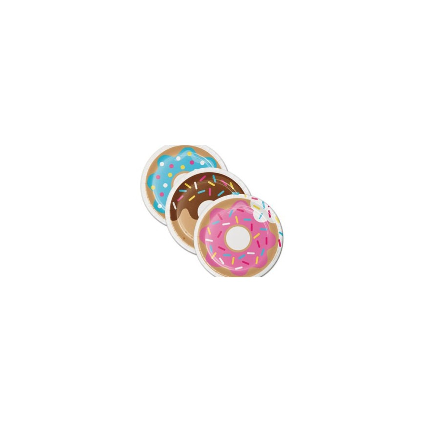 Donut Party Cake Plates