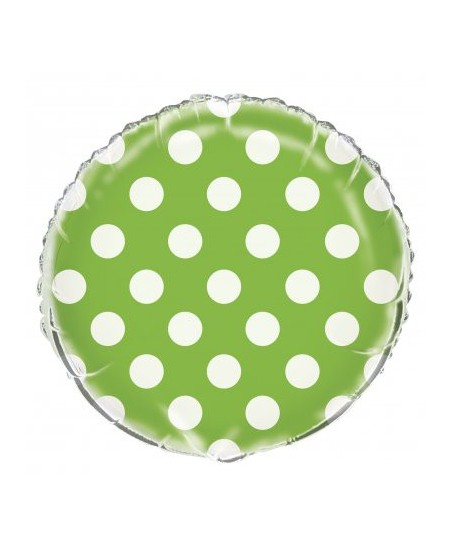 Lime Polka Dots Mylar Balloon