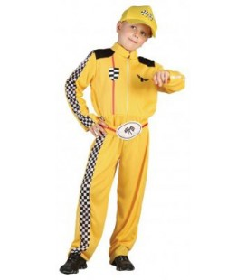 Racing Driver Yellow Costume