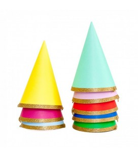 8 Mini Birthday Party Hats