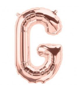 Rose Gold G Mylar Balloon