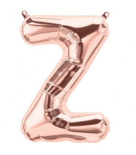 Rose Gold Z Mylar Balloon