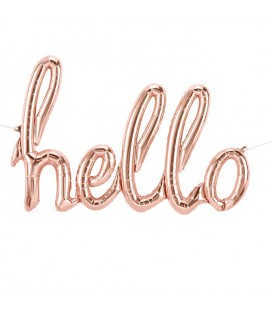 Rose Gold Hello Mylar Balloon