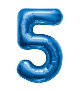 Blue Mylar Ballon Number 5