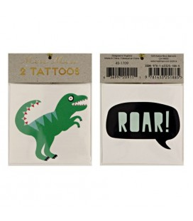 2 Roar Dino Temporary Tattoos