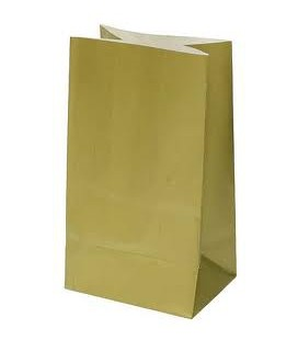 10 Gold Paper Party Bags