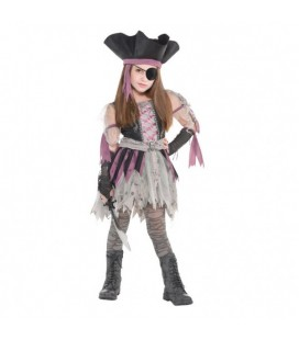 Haunted Pirate Girl Kids Costume
