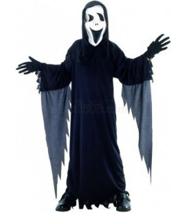 Black Ghost Costume with Mask