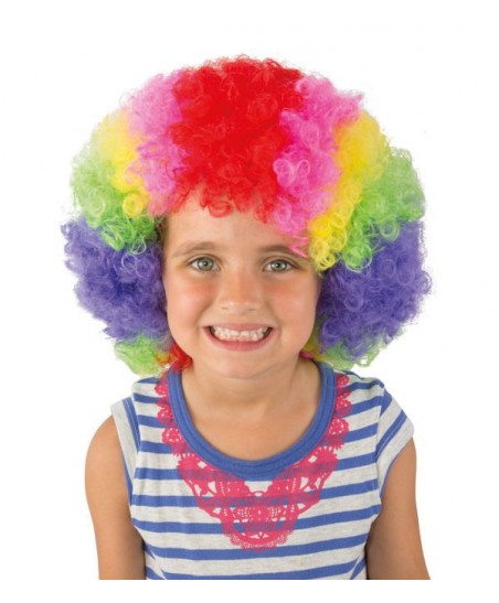 Multicolored Pop Clown Wig for kids