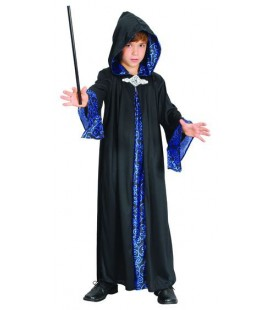 Sorcerer Black & Blue Kids Costume