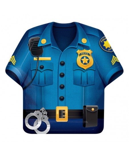 Assiettes Chemise Police Party