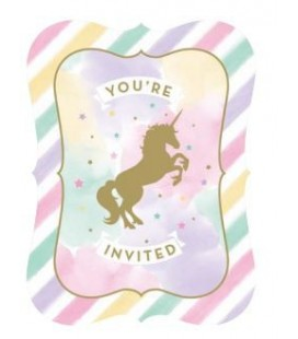 Invitations Licorne Scintillante