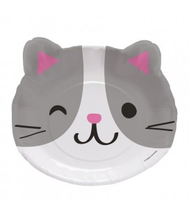 Assiette Visage de Chat Cat Party