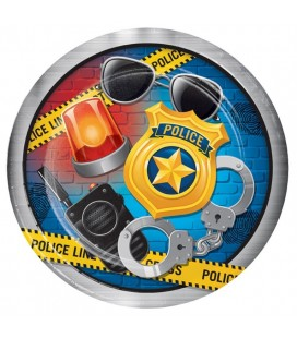 Police Party Cake Plates