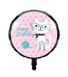 Cat Party Foil Balloon