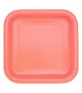 14 CORAL DINNER PLATES