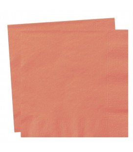 20 CORAL LUNCH NAPKINS