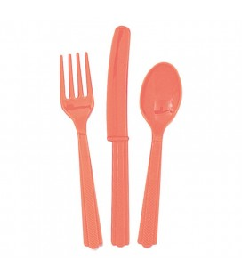 18 Coral Cutlery