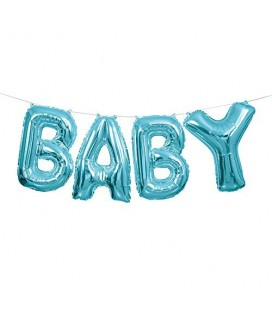 Blue Baby Mylar Balloon