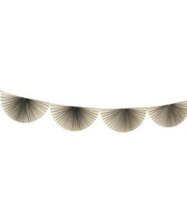 Grey Bunting Fan Garland