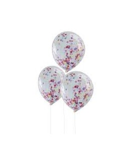 5 Confetti Party Balloons