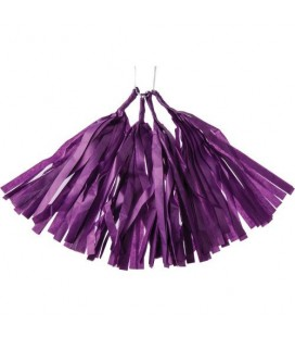4 Purple Tassels