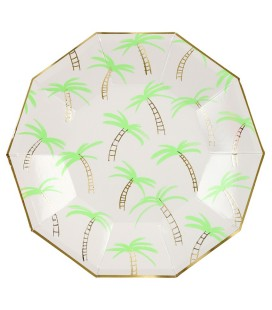 Large Palm Trees Plates