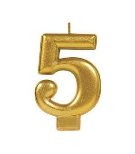 Number 4 Gold Candle