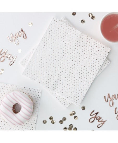 Rose Gold Spotty Napkins